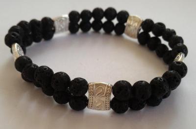 Bracelet pierre de lave 2