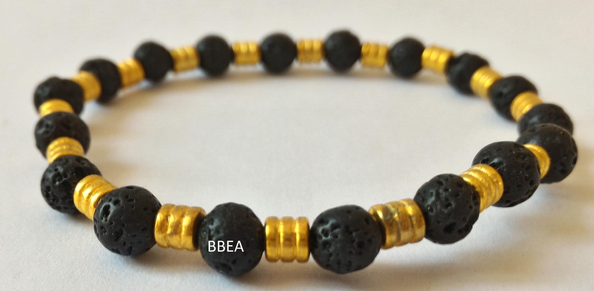 Bracelet pierre de lave 3