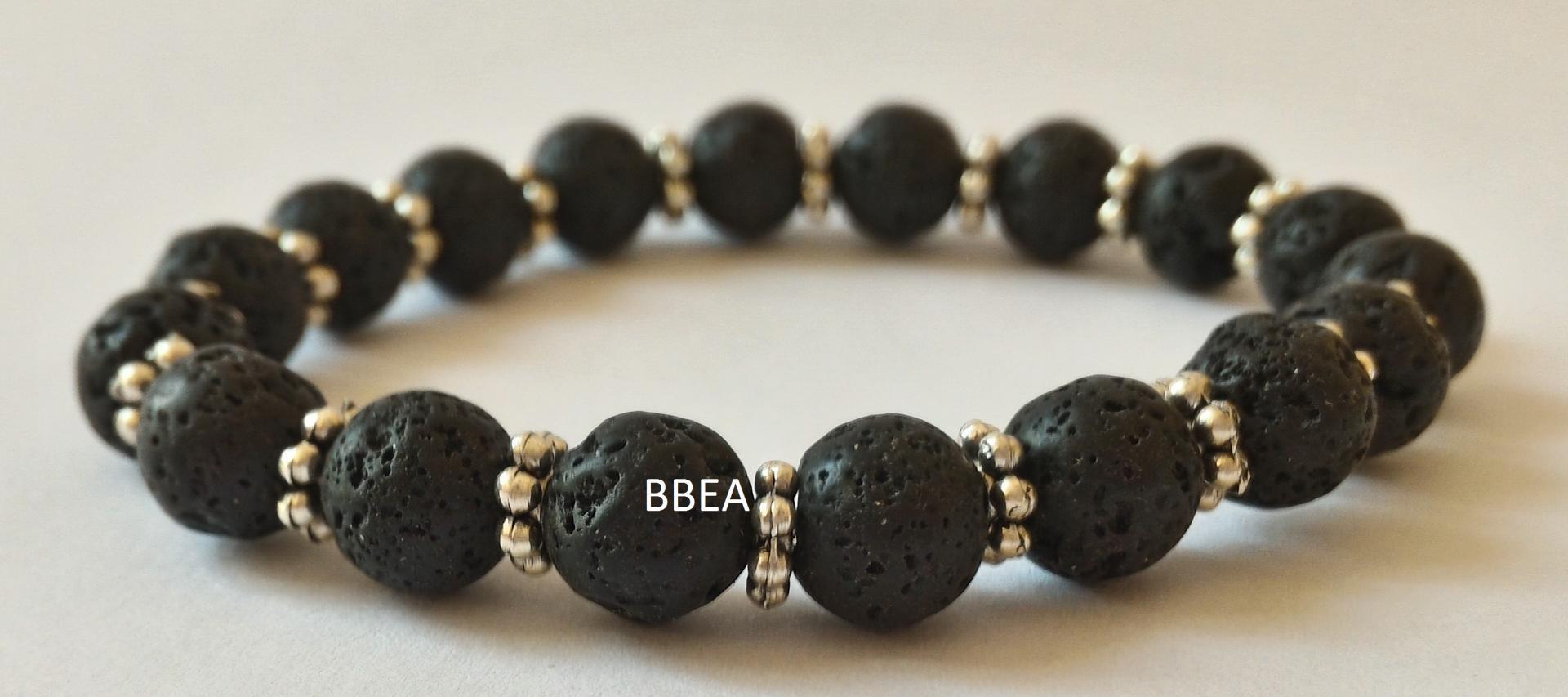 Bracelet pierre de lave 6
