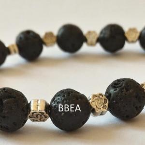 Bracelet pierre de lave 8