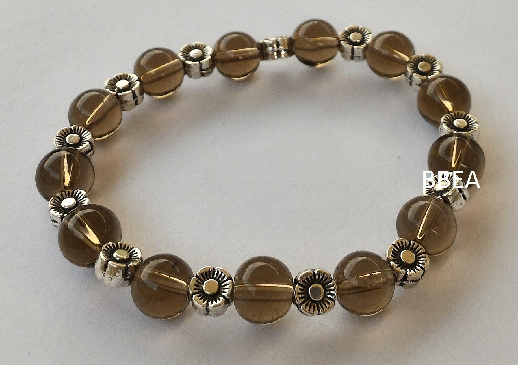 Bracelet quartz fume 4