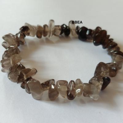 Bracelet quartz fume chips 2