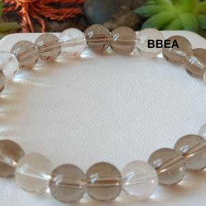 Bracelet quartz fume et cristal de roche