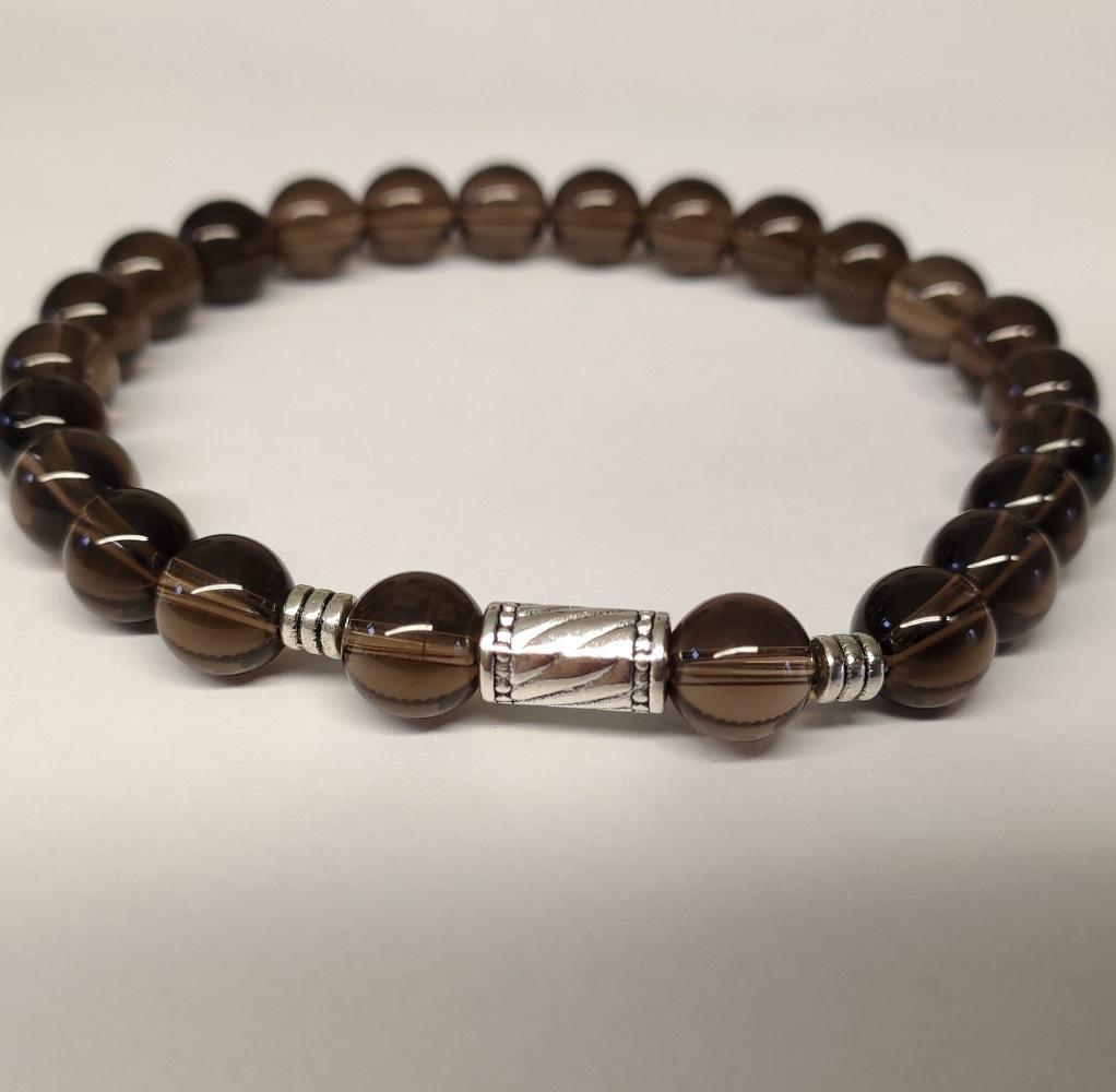 Bracelet quartz fume homme