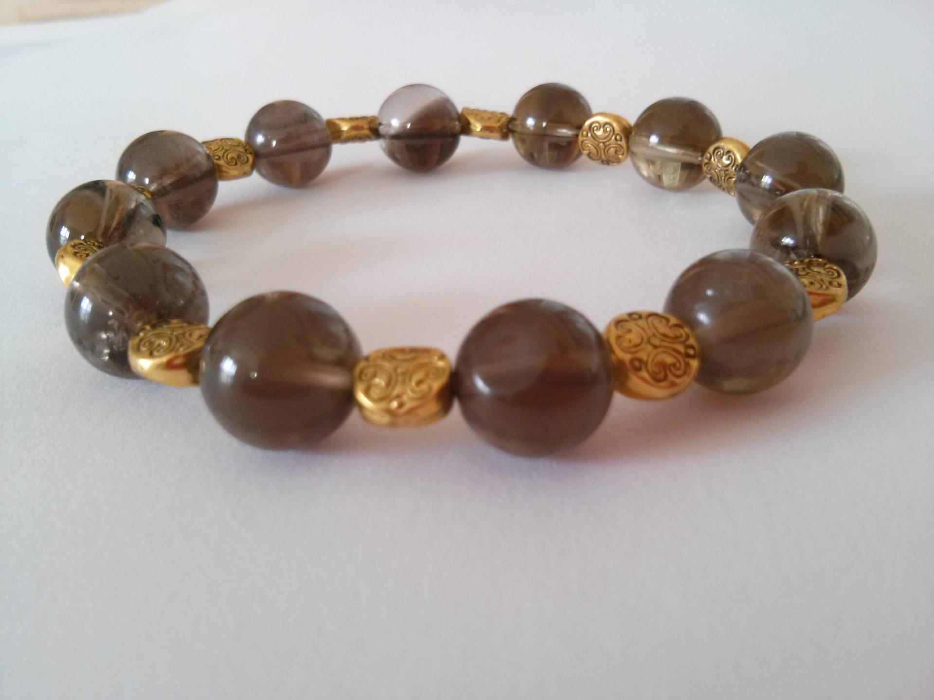 Bracelet quartz fume