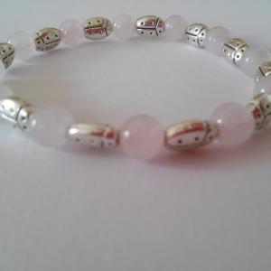 Bracelet quartz rose 15