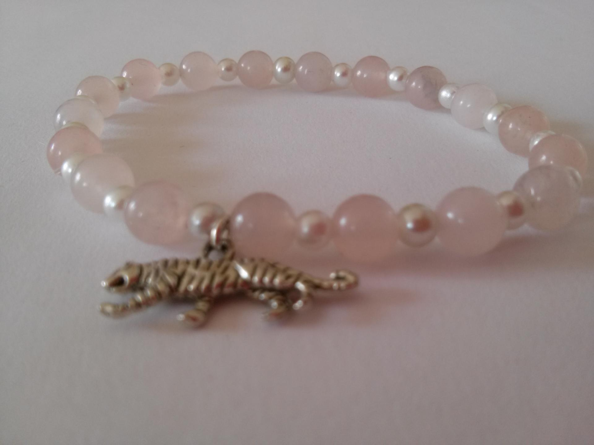 Bracelet quartz rose 16
