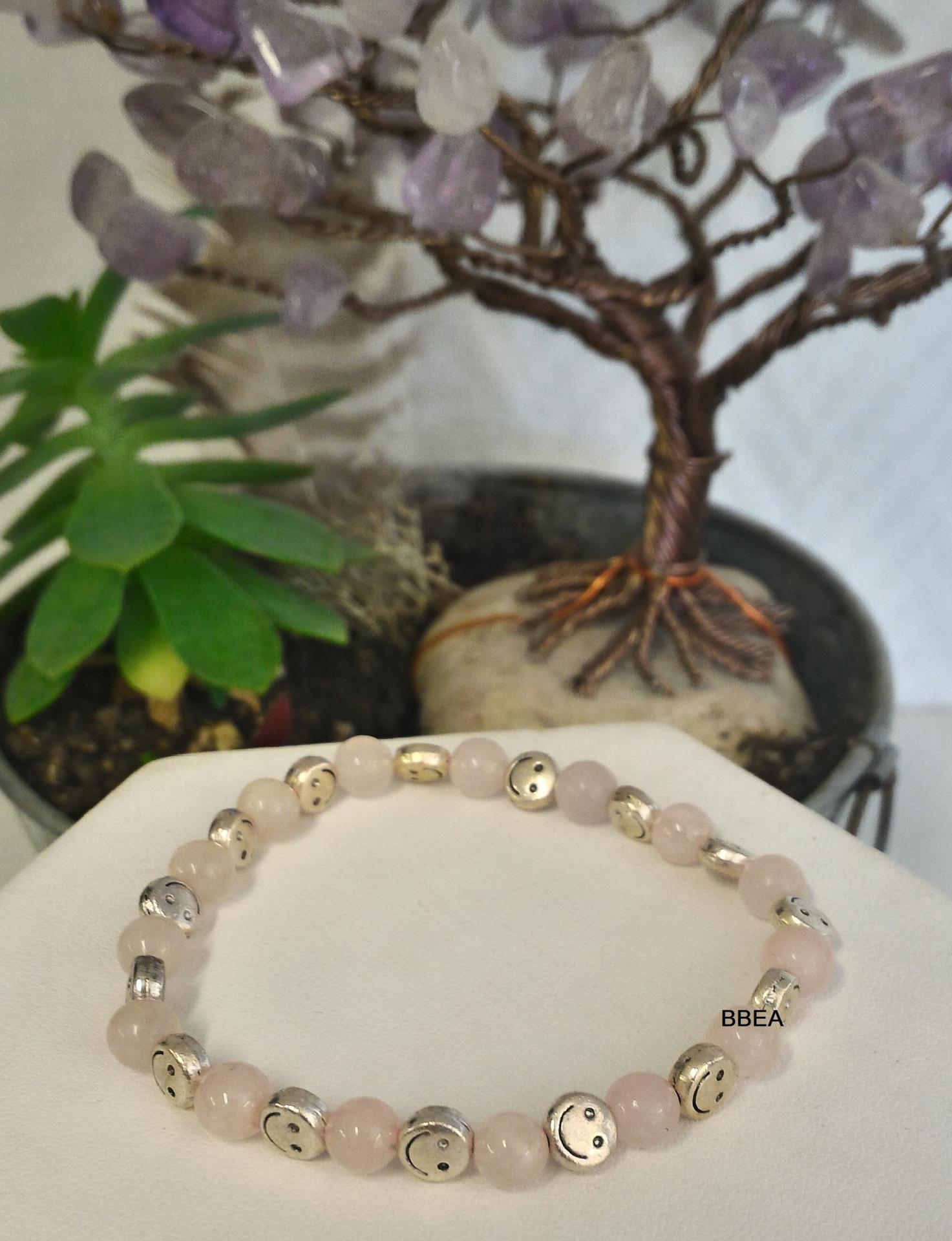 Bracelet quartz rose 2 1