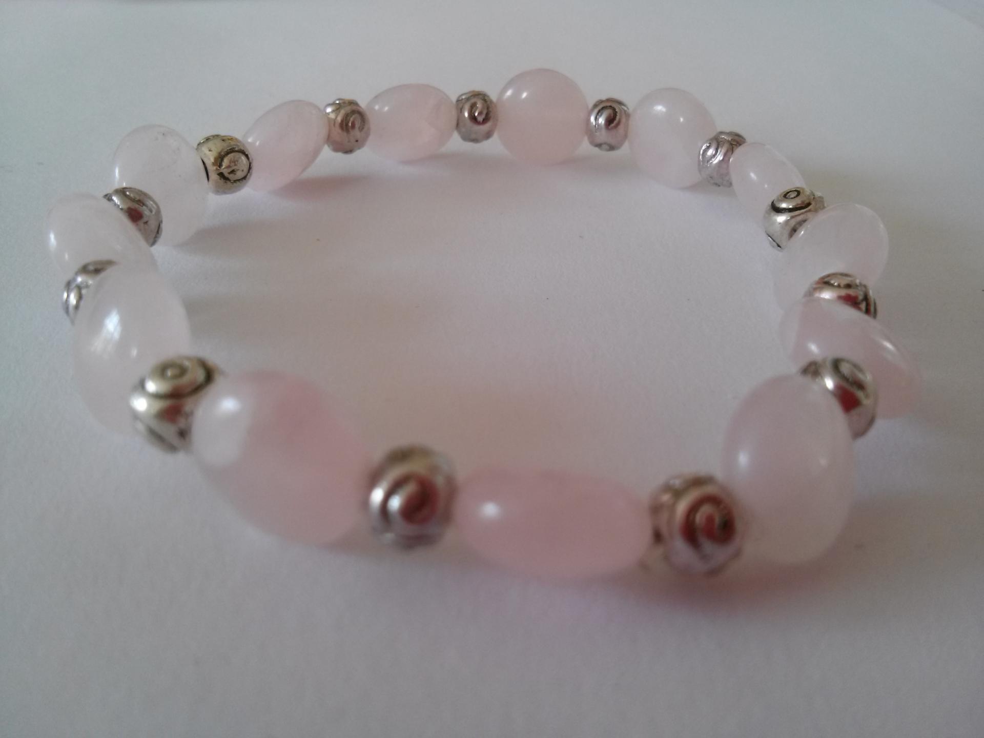 Bracelet quartz rose 23