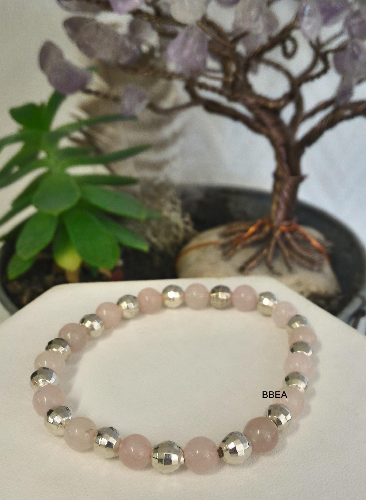 Bracelet quartz rose 3 1