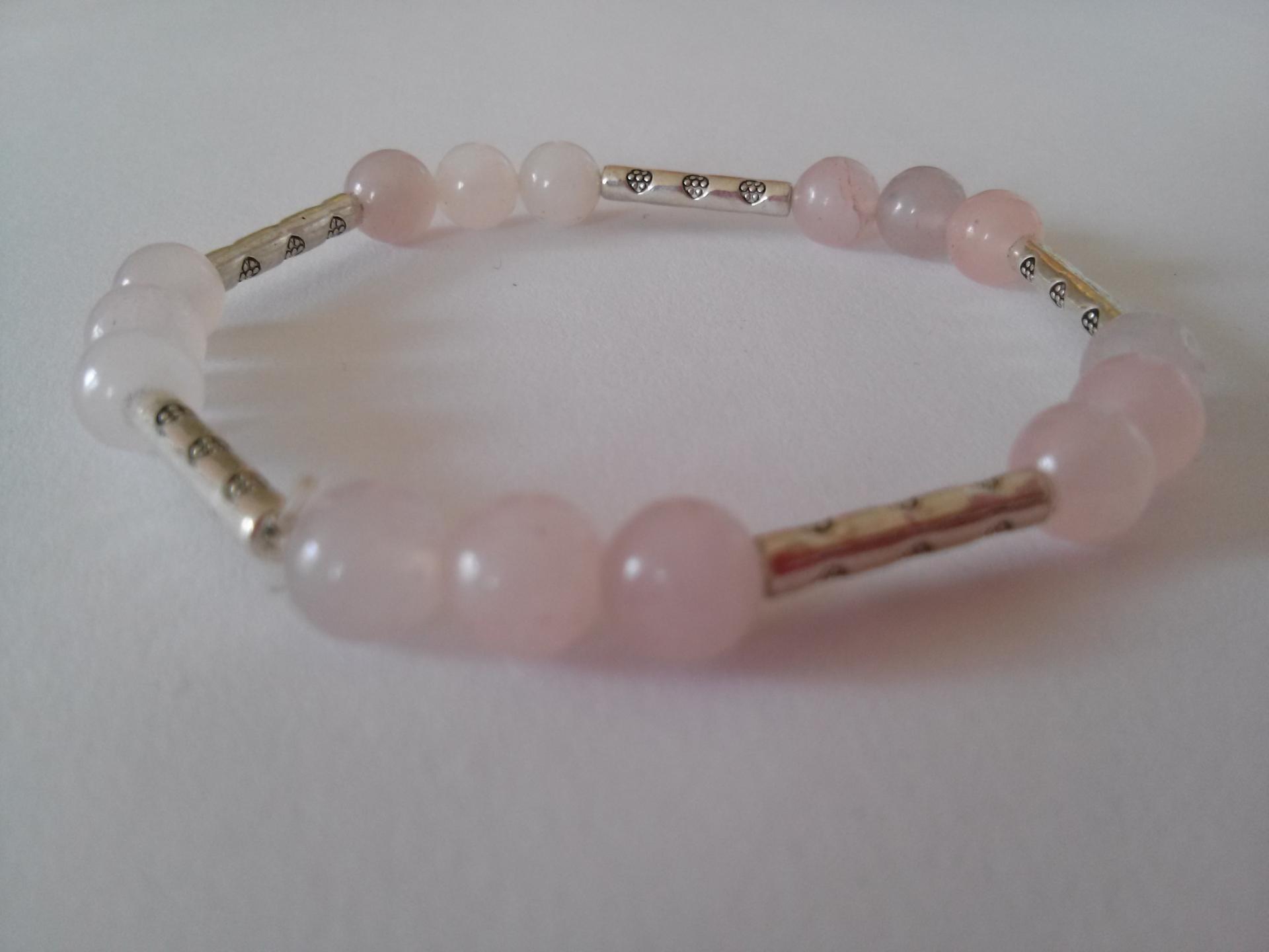 Bracelet quartz rose 6