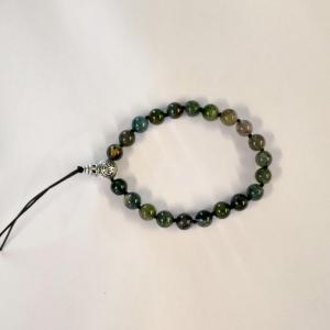 Bracelet tibetain agate mousse