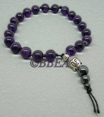 Bracelet tibetain amethyste 3641
