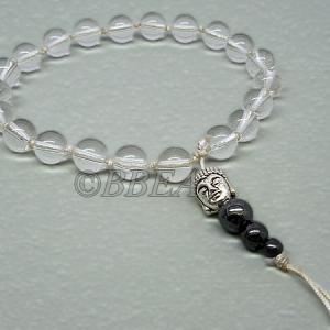 Bracelet tibetain cristal de roche 3638