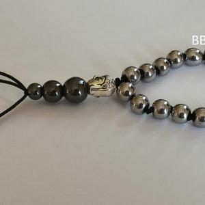 Bracelet tibetain hematite teinee grise