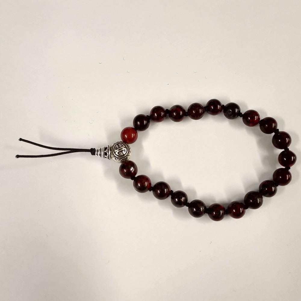 Bracelet tibetain jaspe brechia 1