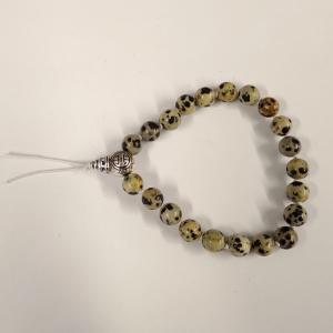 Bracelet tibetain jaspe dalmatien 1
