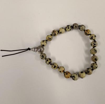 Bracelet tibetain jaspe dalmatien 2