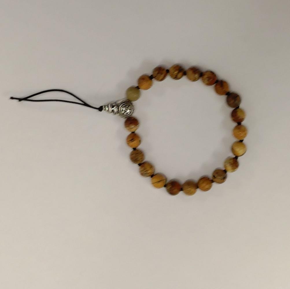 Bracelet tibetain jaspe paysage