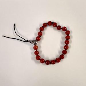 Bracelet tibetain jaspe rouge 1
