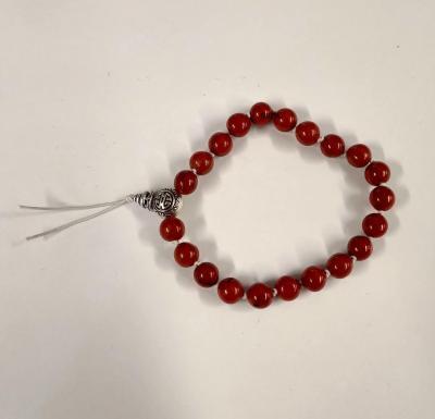 Bracelet tibetain jaspe rouge 2