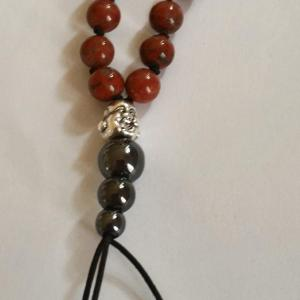 Bracelet tibetain jaspe rouge