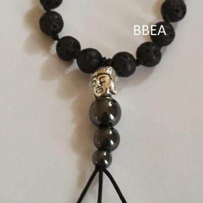 Bracelet tibetain pierre de lave