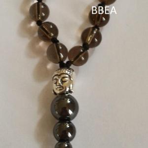 Bracelet tibetain quartz fume