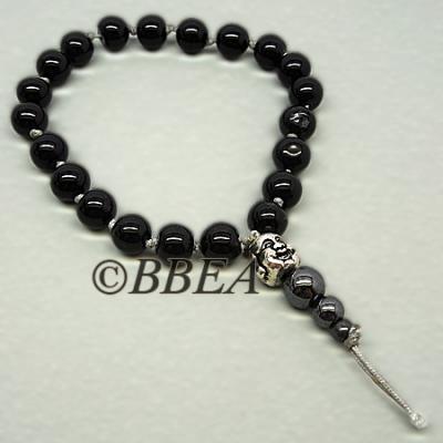 Bracelet tibetain tourmaline noire 3640