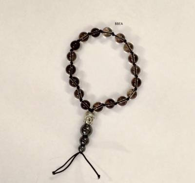 Bracelet tibetan quartz fume