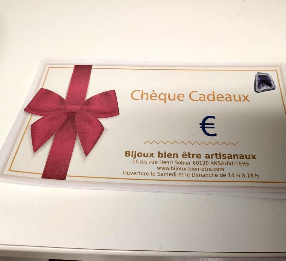 Cheque cadeau 1