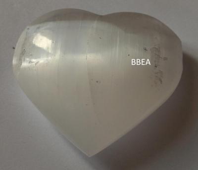 Coeur en selenite 6 5x6cm 101g