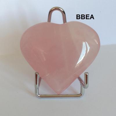 Coeur quartz rose 13