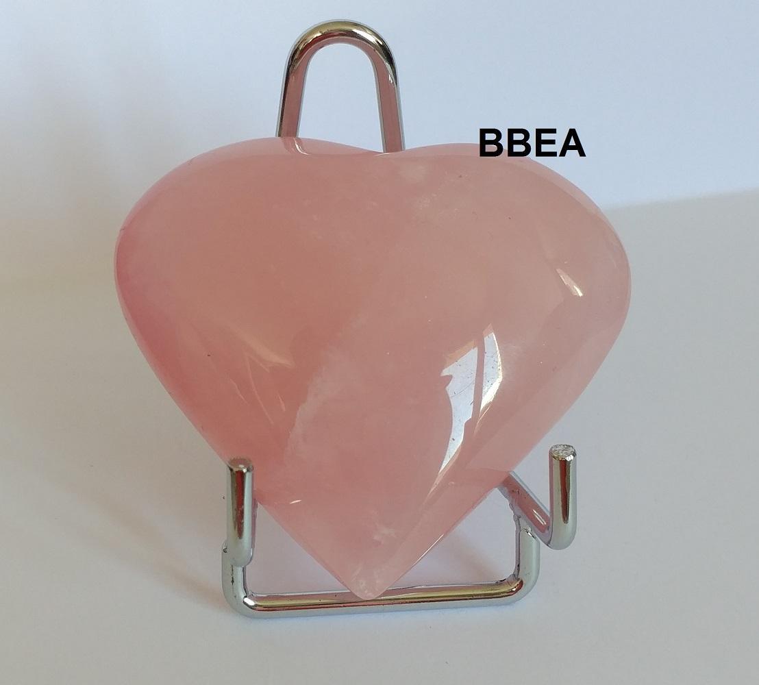 Coeur quartz rose 14