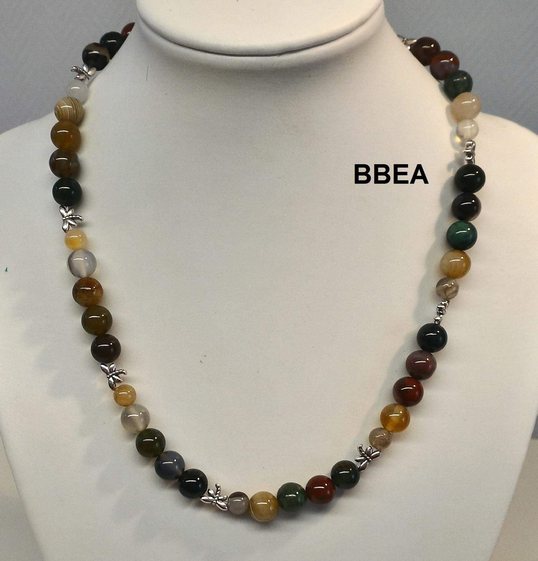 Collier agate indienne 1