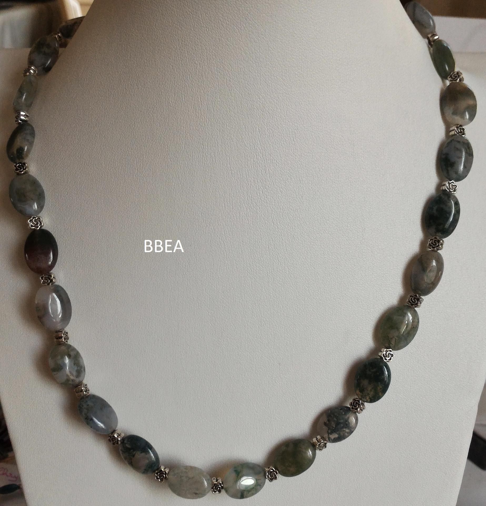 Collier agate mousse 1