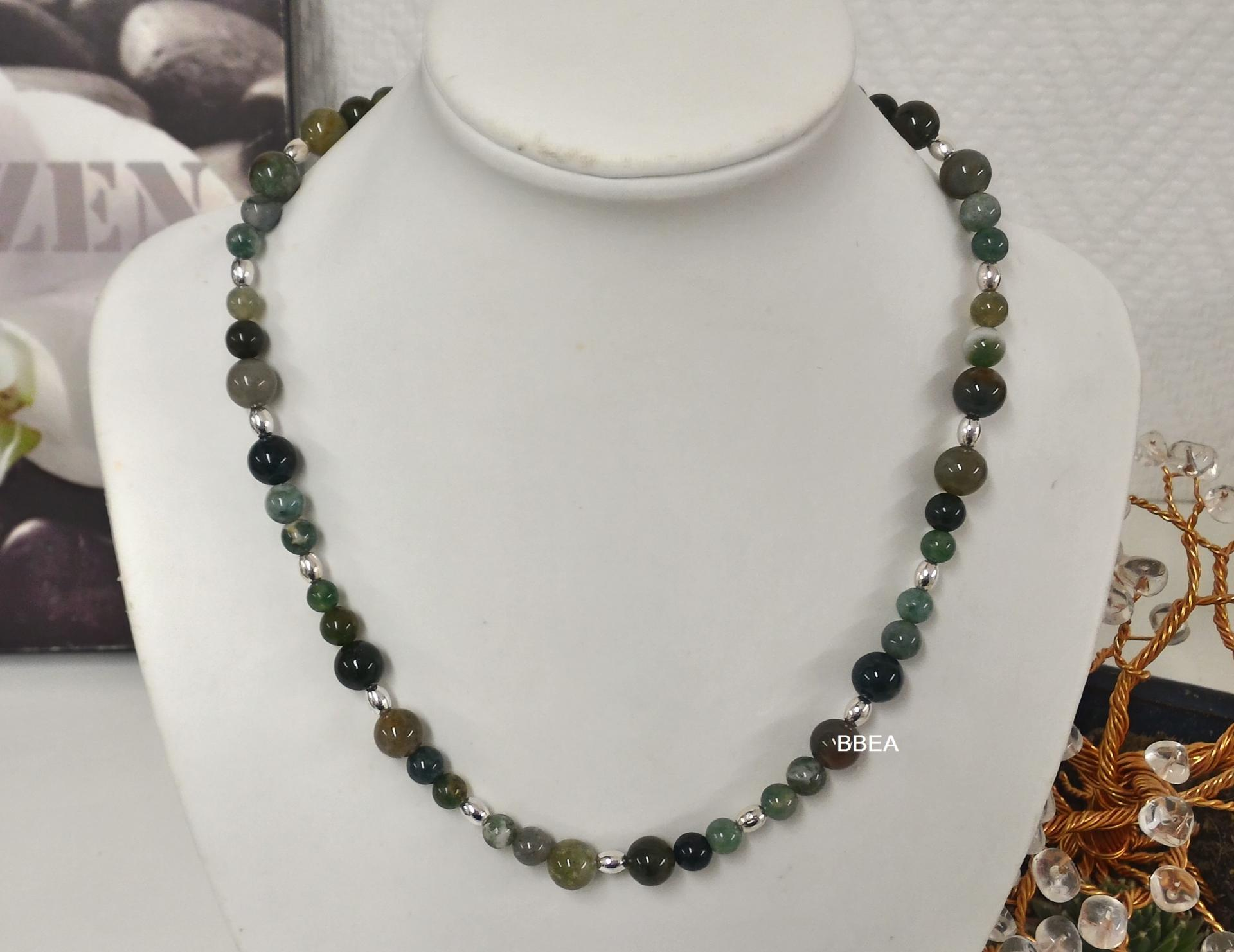 Collier agate mousse 2 1