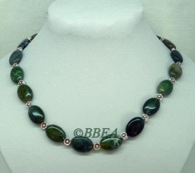Collier agate mousse 3371