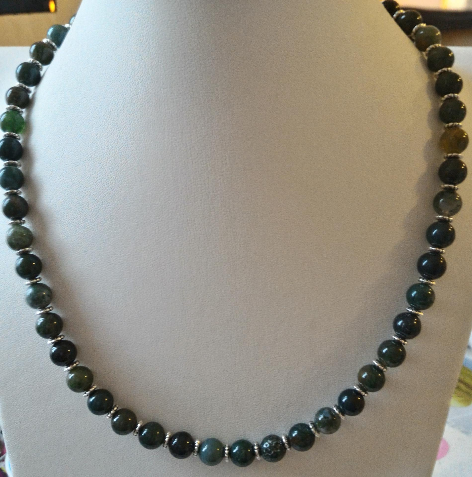 Collier agate mousse 8