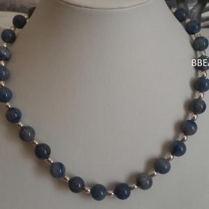 Collier aventurine bleue 1