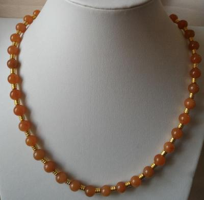 Collier aventurine rouge 1