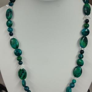 Collier chrysocolle 3 1