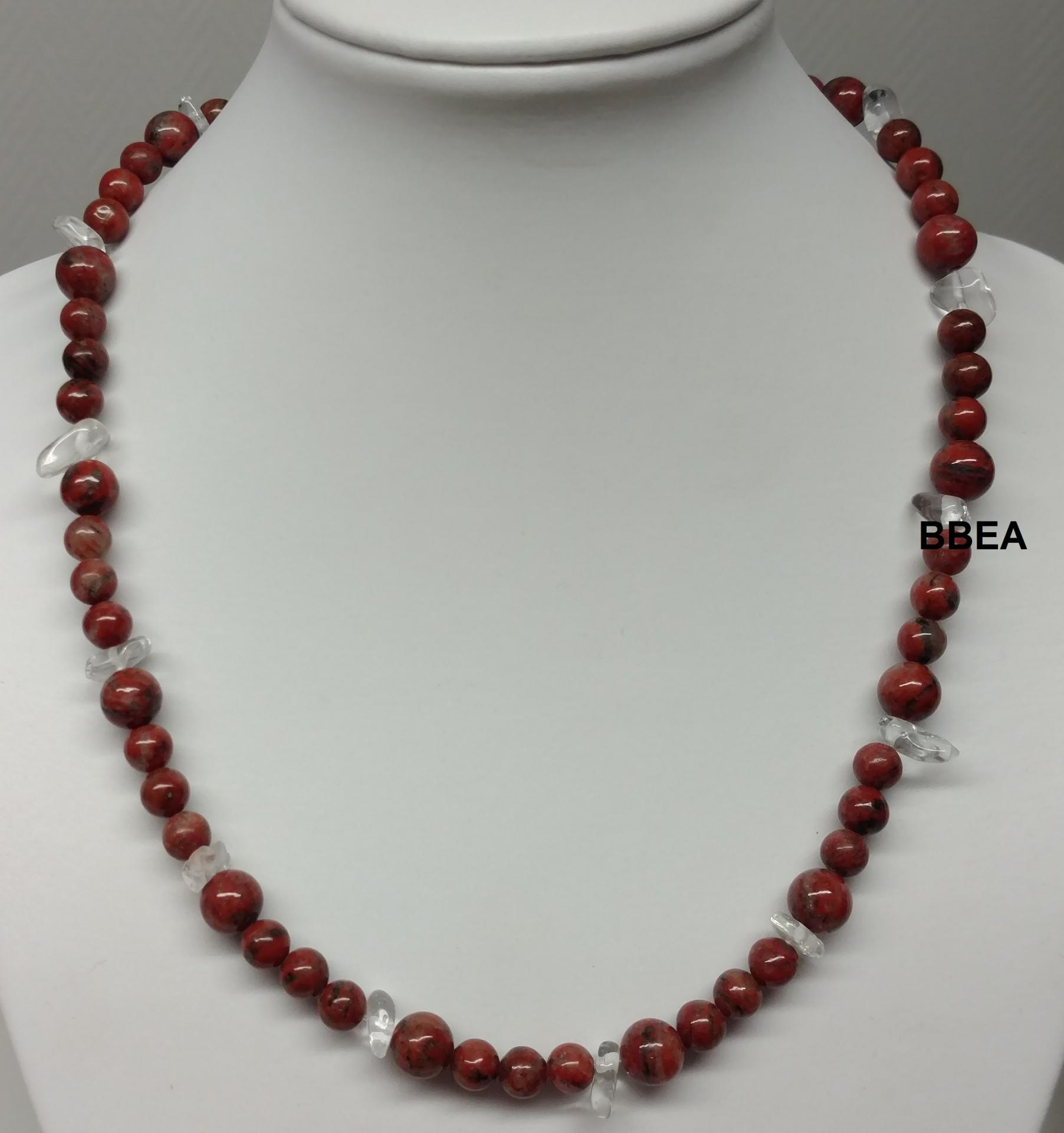 Collier jaspe rouge 2 1