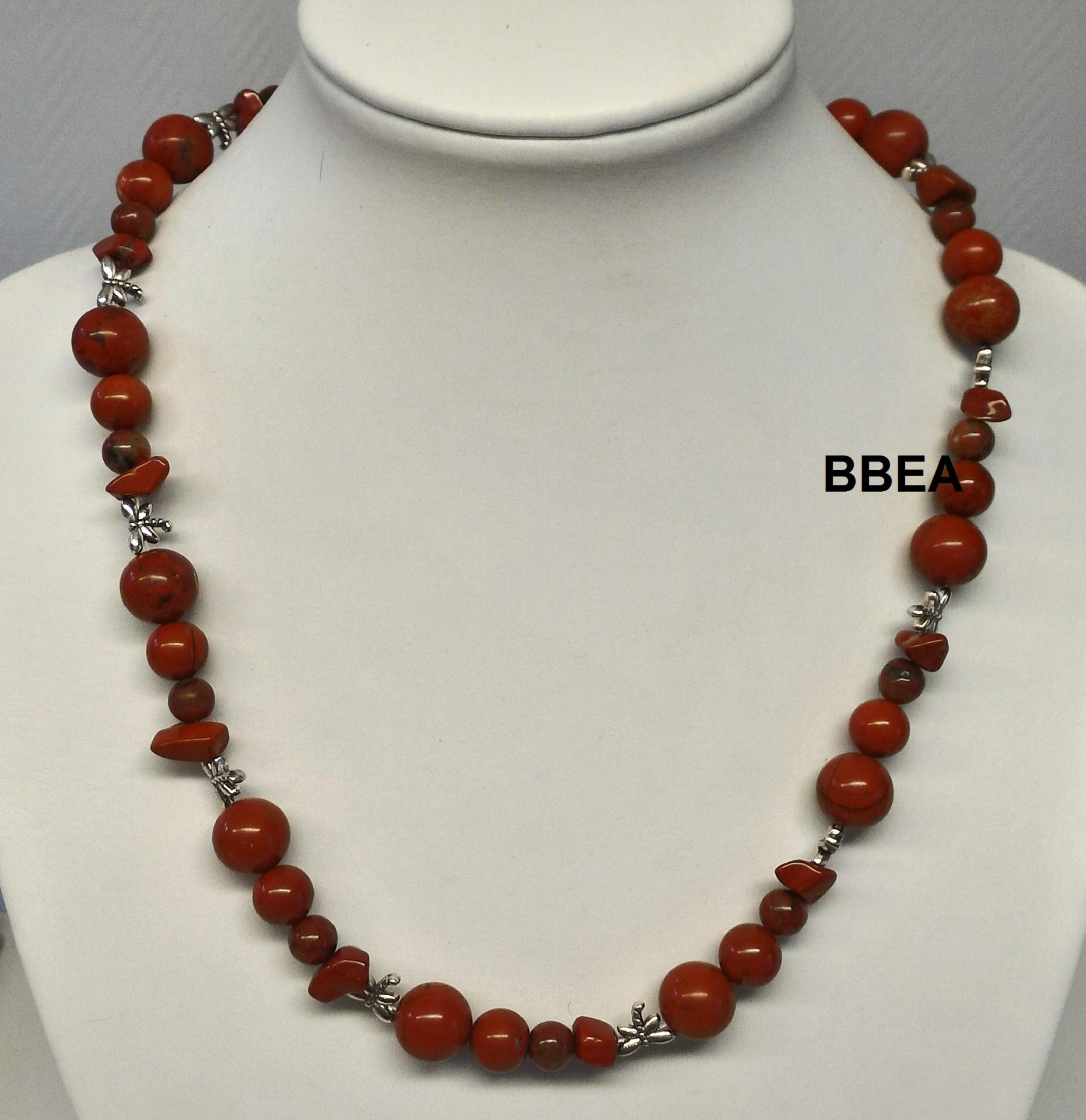 Collier jaspe rouge 2