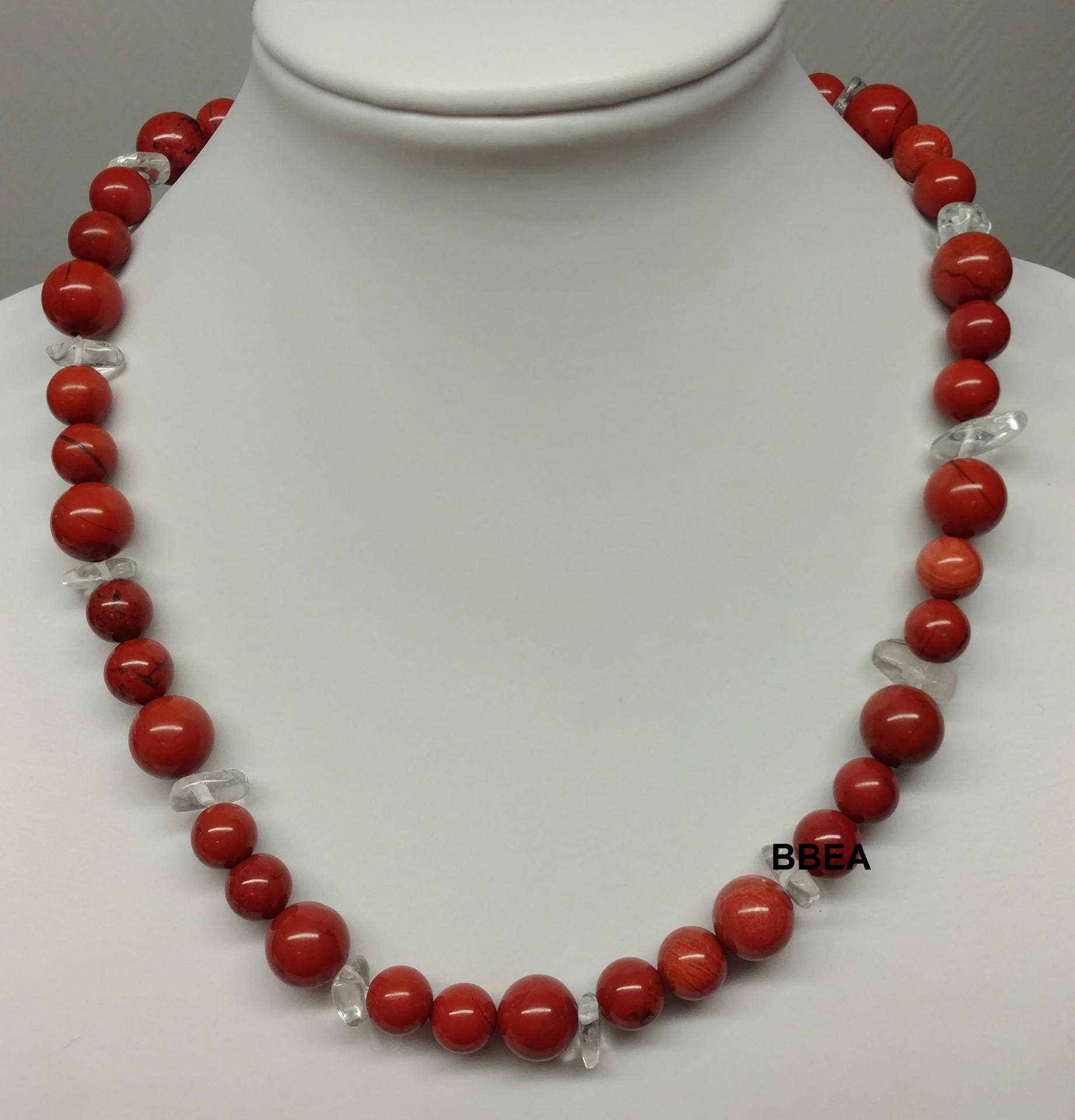 Collier jaspe rouge 3