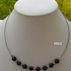 Collier lapis lazuli 5