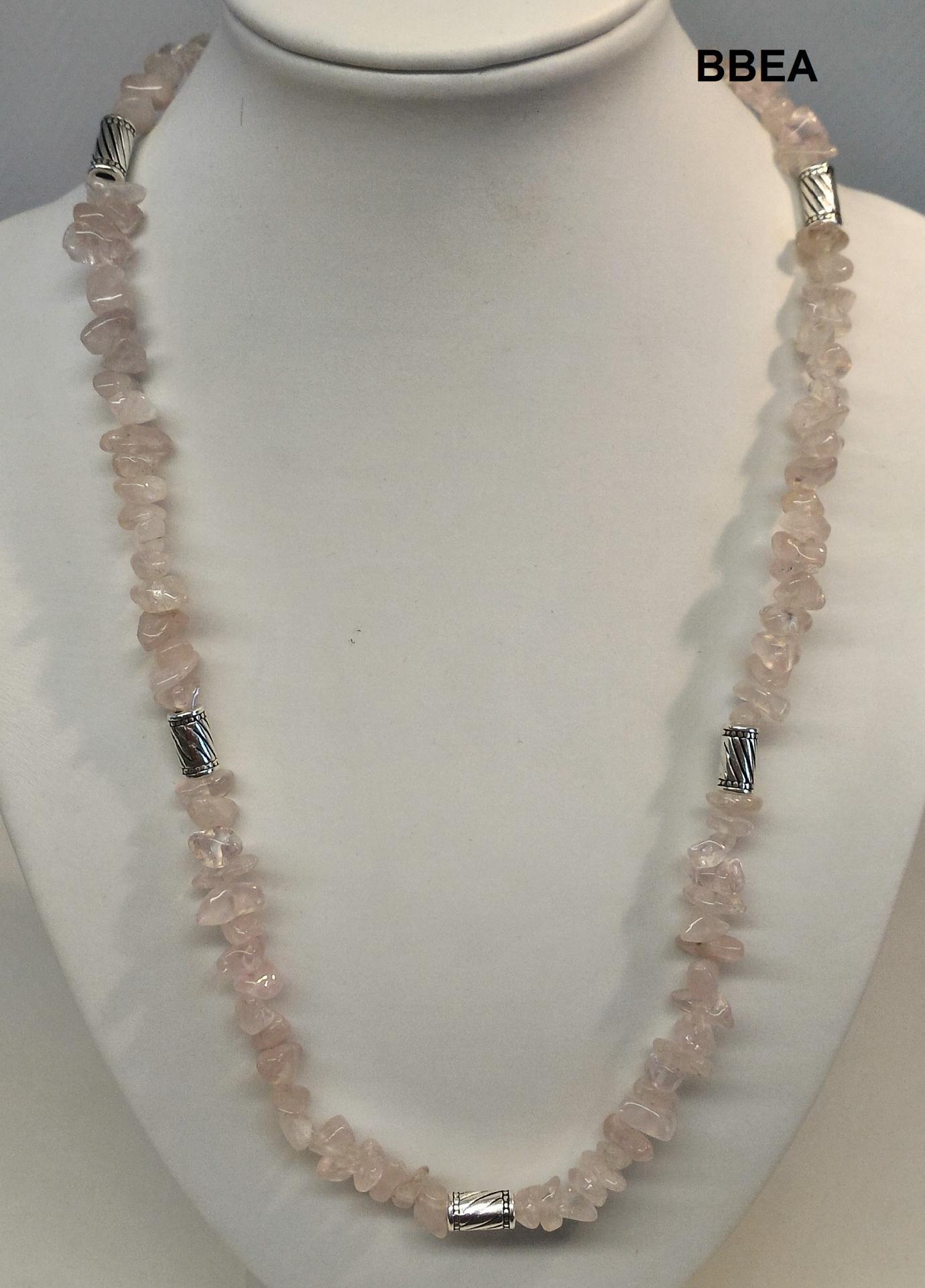 Collier quartz rose 11