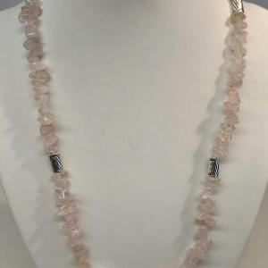 Collier quartz rose 11
