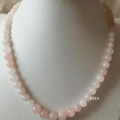 Collier quartz rose 3