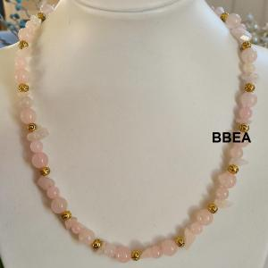 Collier quartz rose 9